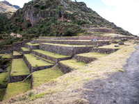 Agricultural Ledges at the Pisac Ruins, Peru